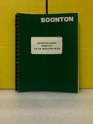 Boonton Model 8210 F.m-a.m Modulation Meter Instruction Manual