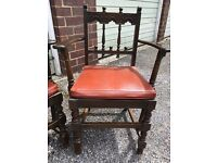 2 Rare ERCOL Low back Carver Chairs