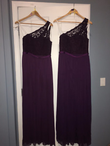 3 size 8 Bridesmaid Dresses Purple