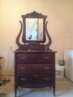 Antique dresser and dry sink