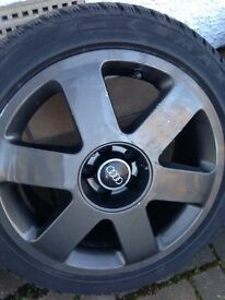 4x Audi A1 / Mk1 TT Alloys 17inch With Winter Tyres. 5x100 Et32