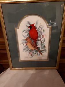Don Kent signed and numbered print - cardinals