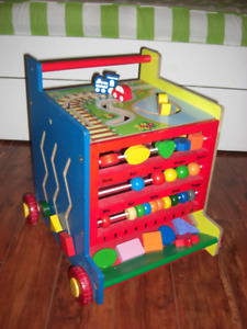Toddler solid wood activity centre