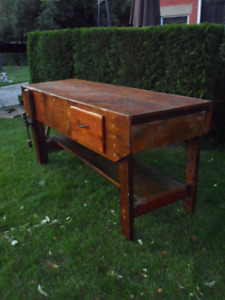 ***RARE*** ANTIQUE CARPENTERS BENCH- MEDIA CONSOLE