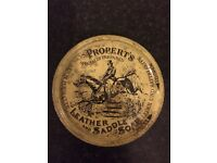 Vintage properts specially prepared leather and saddle tin n soap