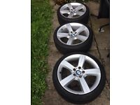 3 GENUINE 19 BMW ALLOYS