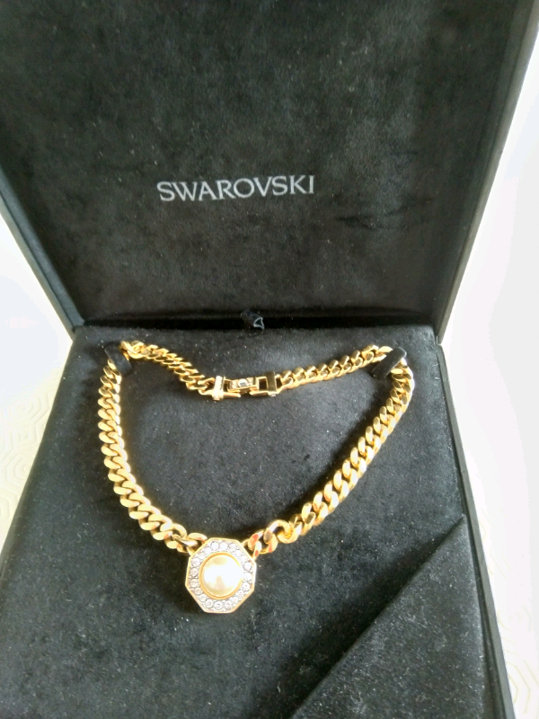 luxury aesthetic diversified latest designs high quality materials Necklace club chain Swarovski crystal and pearl pendant | in East Kilbride,  Glasgow | Gumtree