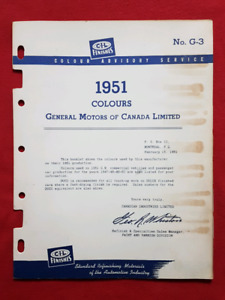 1951 CHEVROLET PONTIAC BUICK OLDSMOBILE Paint / Colour Chips CIL