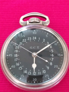 Rare Hamilton2 Hours Dial Silver 499 2B 22 Jewels Military Watch