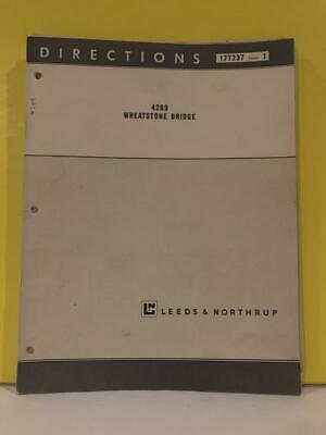 Leeds Northrup 4289 Wheatstone Bridge Directions