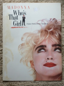 MADONNA - WHO'S THAT GIRL - SOUNDTRACK SONGBOOK / Piano