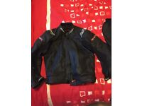 RST Leather Motorbike Jacket and Trousers, mint condition