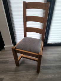 Solid Beech Heavy Dining Chairs x 6