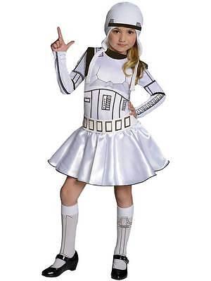 Child Kids Star Wars Girls Stormtrooper Fancy Dress Costume Book Week Outfit