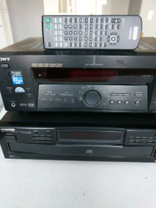 Stereo Equipment - Sony Receiver / Kenwood CD Player