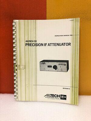 Ailtech Precision If Attenuator Instruction Manual