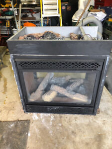 GAS 2 SIDED FIREPLACE