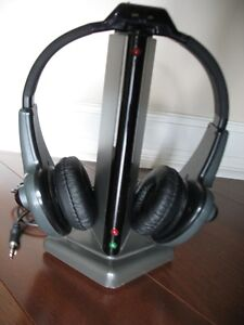 Wireless Headphones with Base Transmitter