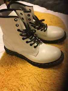 Dr Martens Womens Boots 1460 W White Smooth Leather Strathcona County Edmonton Area image 1