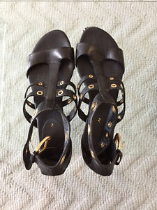 Authentic Cole Haan Air Whitney.GLDTR black Women's Sandals