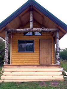 Log guest cabins