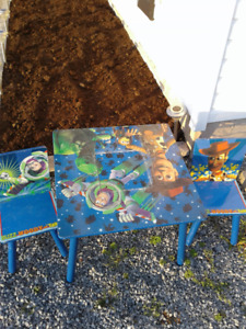 Toy Story table and chairs.