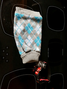 Small dog collar and sweater