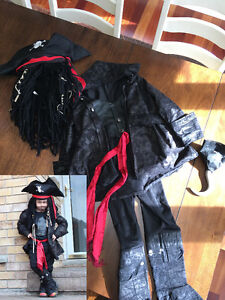 Jack Sparrow Pirate Costume - Size 6+
