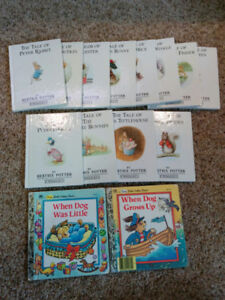 The Tale Of Peter Rabbit books and When Dog Grows Up