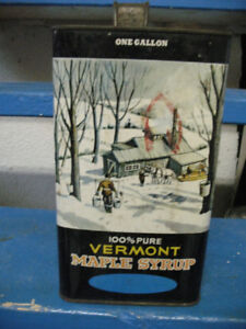 Vintage Vermont Maple Syrup Can