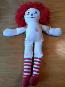 "Handmade 18"" Raggedy Ann - no dress"