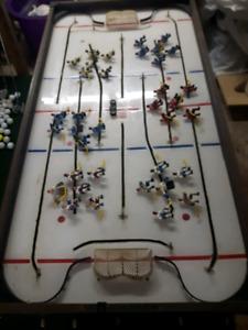 1970's floor model knob hockey game