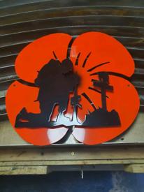 Fallen Soldier Metal Sign