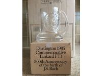 Dartington 1985 commemorative tankard FT1