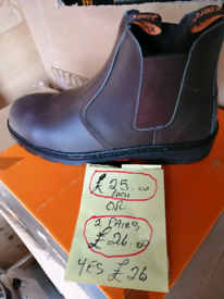 Work boots slip on safety