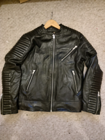 Mens real leather jacket size M