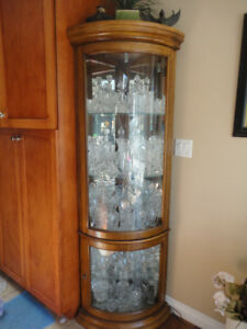 3 cabinets with cyrstal