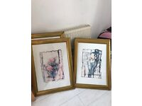 Pictures/paintings+frames x3 RRP£125