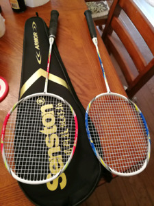 Badminton Raquettes including cover and two badminton
