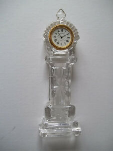 Crystal Clock - Grandfather Style