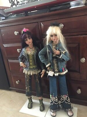 """Jan Mclean collectible dolls, (2003) Made of vinyl 30 and 31"""" tall"""