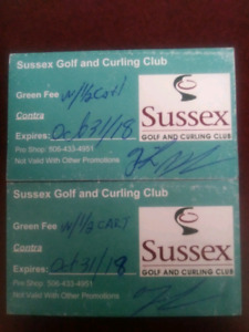 2 Green Fees including cart rental