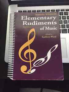 Elementary Rudiments of Music Workbook