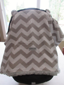 Car seat Canopy - Grey Chevy
