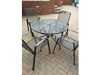 Kettler 4 seater table & chairs