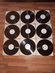 """LOT OF 9 """"CRUISIN"""" 50'S 60'S VINYL LP'S WITHOUT COVERS"""
