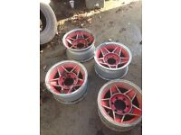 "Set of 15"" deep dish rims."