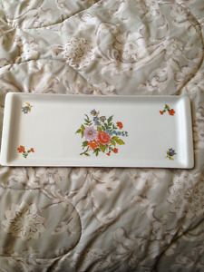 HOLLOHAZA 1834 RECTANGLE PLATE / TRAY, IN GOOD CONDITION