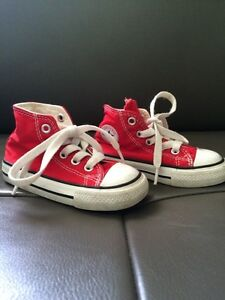 Red Converse All Star toddler shoes size 5