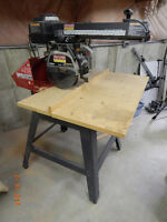 Sears 10 inch Radial Arm Saw with Stand, New it's $1499.99